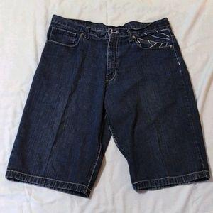Men's dark denim shorts